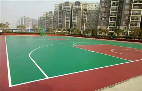 西藏丙烯酸篮球场球场材料篮球场报价