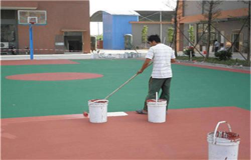 西藏丙烯酸球场球场材料丙烯酸材料