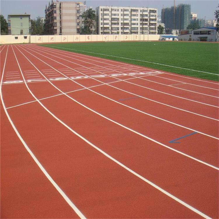 东营跑道翻新橡胶地坪塑胶跑道
