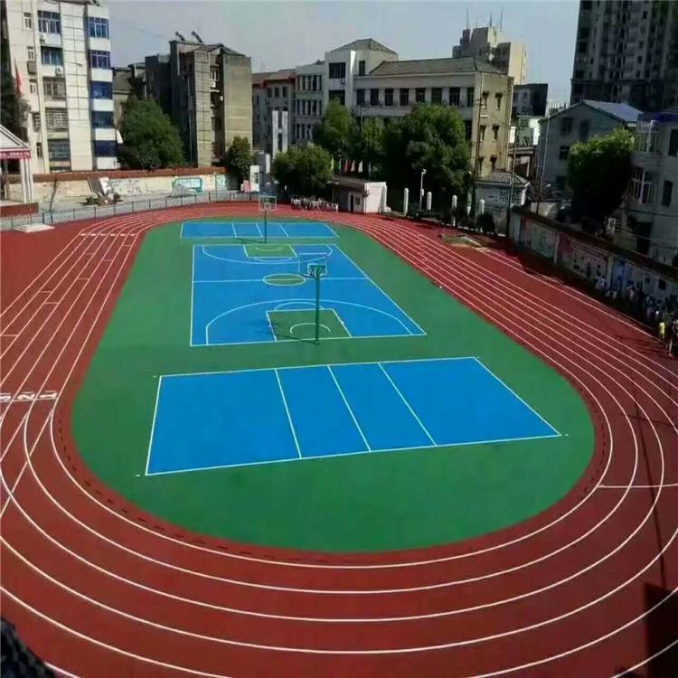西藏塑胶跑道施工塑胶篮球场塑胶跑道