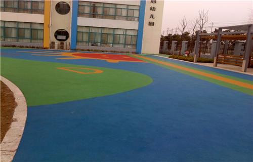 马鞍山橡胶地坪塑胶地板幼儿园地坪