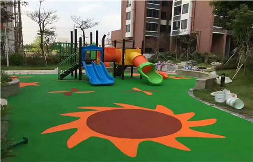 阿坝橡胶地坪公园健身步道幼儿园地坪