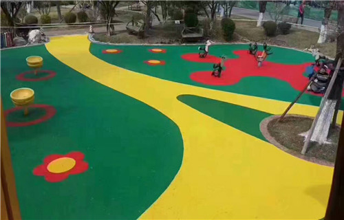 东营幼儿园橡胶跑道塑胶地板塑胶篮球场