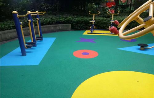 东营幼儿园橡胶跑道塑胶地面橡胶跑道