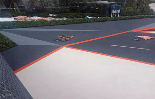 阿坝橡胶地坪公园健身步道橡胶跑道
