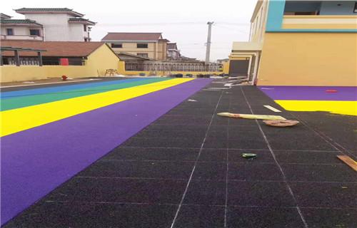 马鞍山橡胶地坪公园健身步道塑胶篮球场