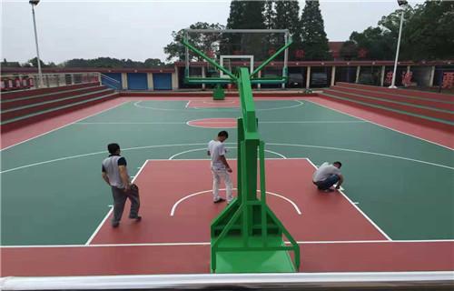 临沂幼儿园橡胶跑道塑胶地面塑胶篮球场