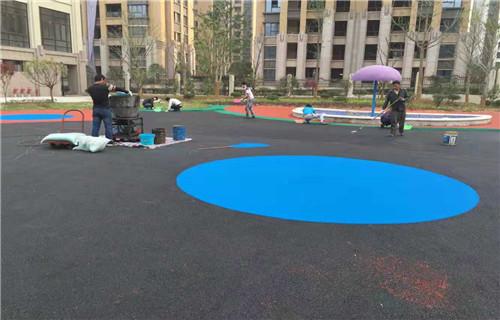廊坊橡胶地坪塑胶地面塑胶篮球场