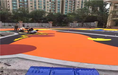 临沂幼儿园地板公园健身步道幼儿园地坪
