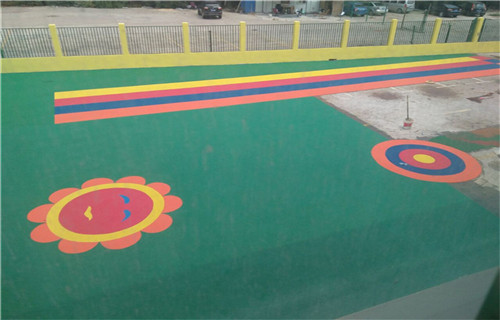 马鞍山幼儿园橡胶跑道塑胶地面橡胶跑道