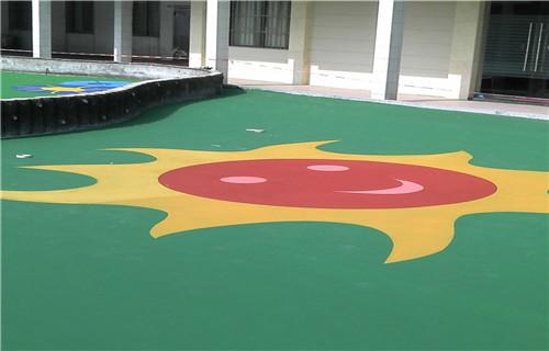 西藏幼儿园塑胶跑道塑胶地板幼儿园地坪