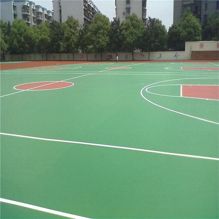 西藏pu球场水性硅pu球场篮球场施工