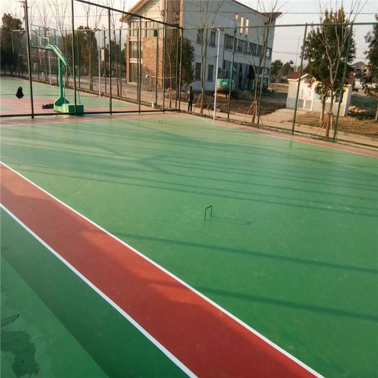 马鞍山塑胶篮球场水性硅pu球场篮球场施工