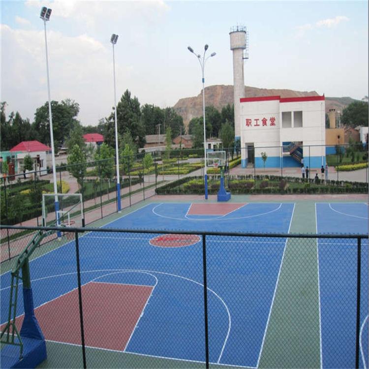 东营塑胶篮球场水性硅pu球场篮球场施工