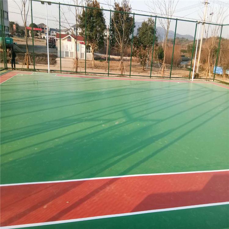 东营球场材料水性硅pu球场篮球场施工