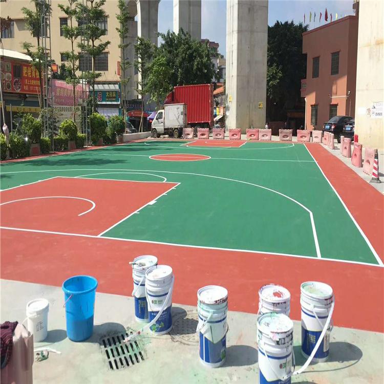 锦州pu球场水性硅pu球场篮球场施工