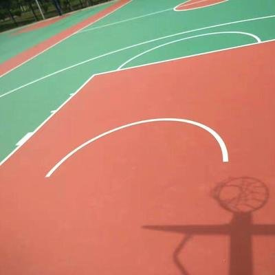 黑龙江硅pu篮球场水性硅pu球场篮球场施工
