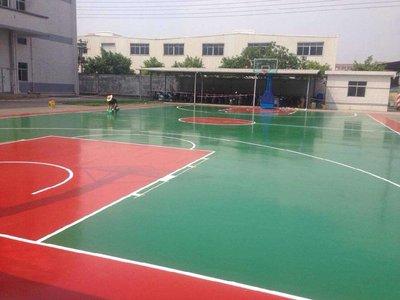 临沂pu球场水性硅pu球场篮球场施工
