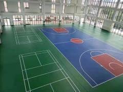 东营球场材料水性硅pu球场篮球场地面