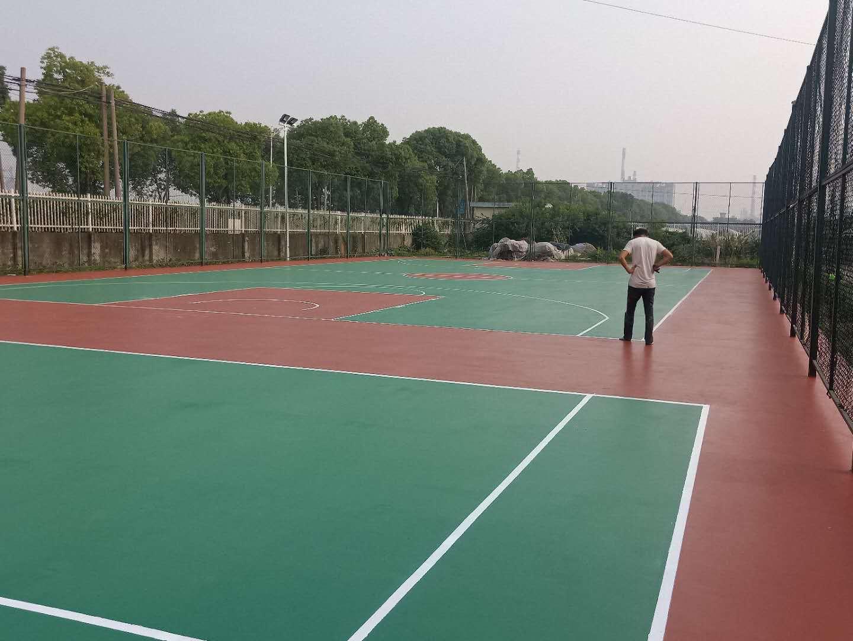 海南球场材料水性硅pu球场篮球场地面
