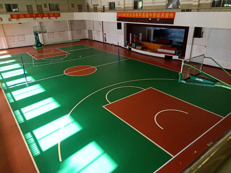 东营塑胶篮球场水性硅pu球场篮球场地面