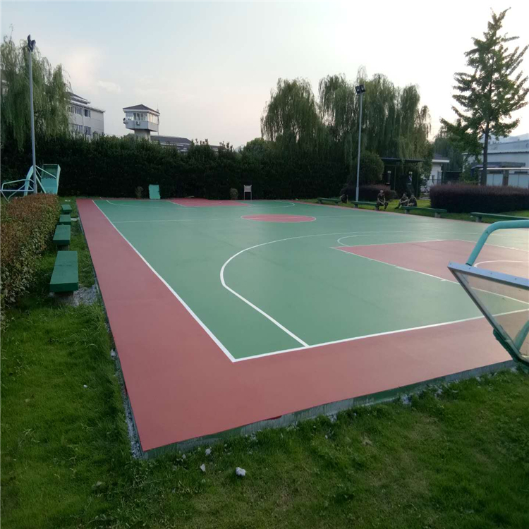 锦州pu球场水性硅pu球场篮球场地面