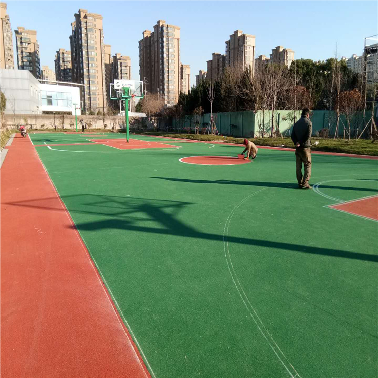 马鞍山球场材料水性硅pu球场篮球场施工