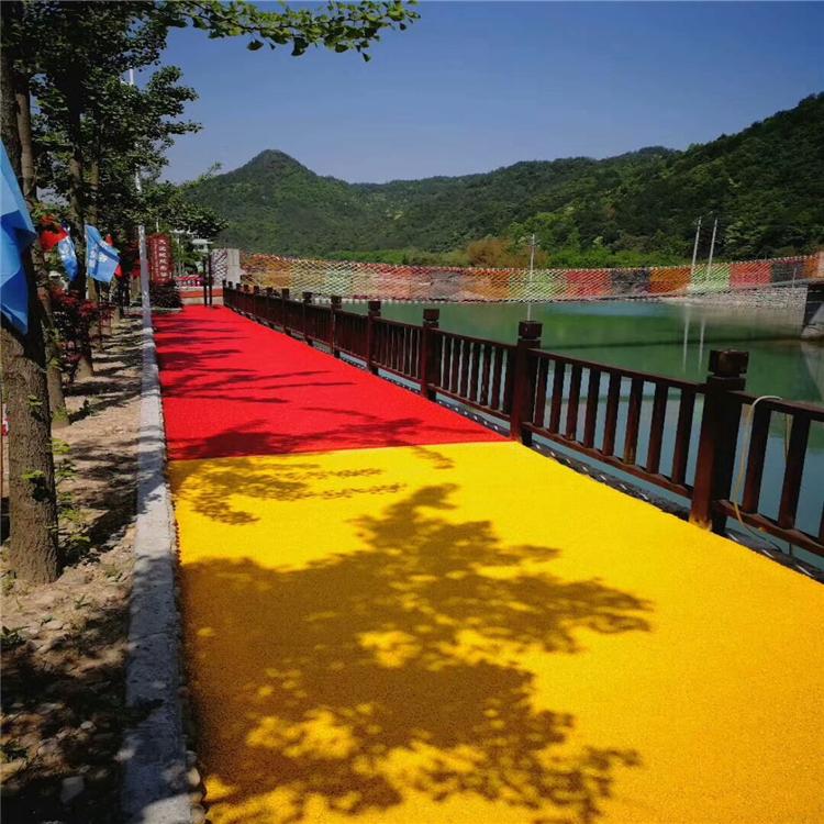 西藏彩色防滑路面透水混凝土彩色防滑透水路面