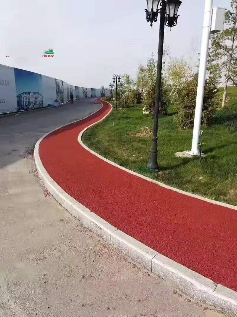 安庆彩色防滑路面透水混凝土彩色防滑透水路面
