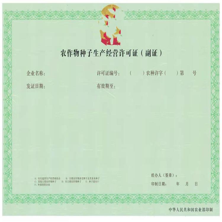 安徽省法人登记证书印刷做工精致