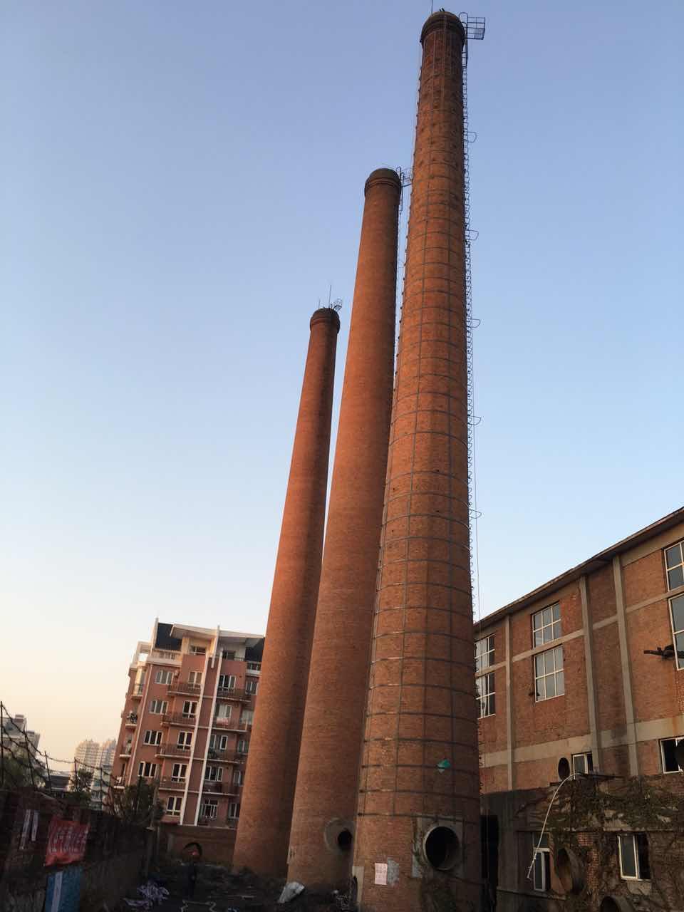 安康新建80m砖烟筒改造设计