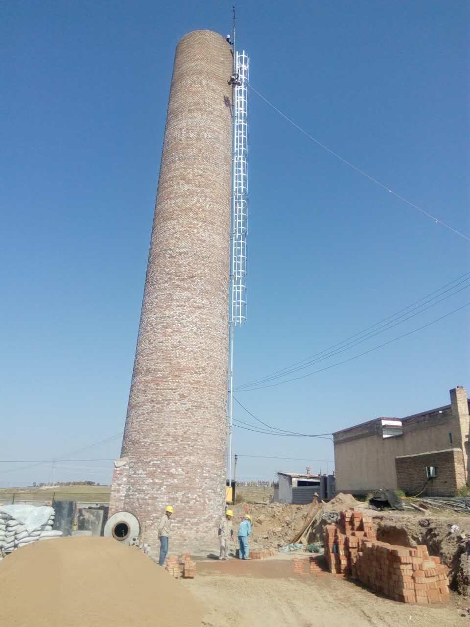 安徽70米电厂烟囱新建厂家