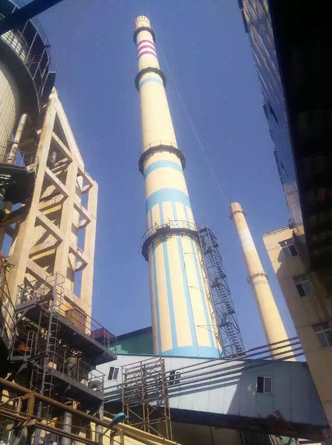 新闻:海口30米砖厂烟囱新建施工队