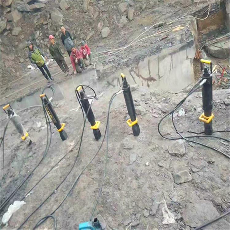 北京:井下大块岩石二次分裂用什么机器出租劈裂机
