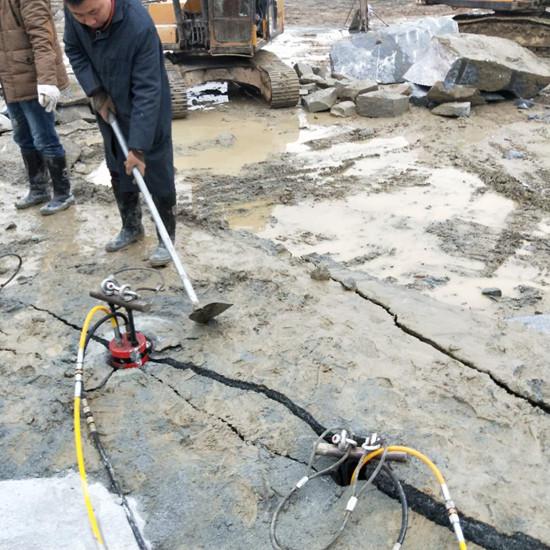 辽宁:荒料破碎设备炮头机太慢