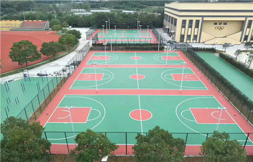 马鞍山混凝土基础硅pu材料施工篮球场优点