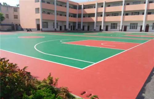 马鞍山篮球场专用材料硅pu球场施工厂家