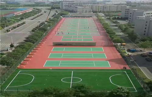 西宁球场地面铺设篮球场面层铺设公司
