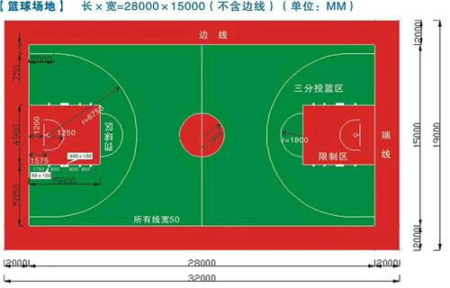 湖南保质量篮球场材料销售