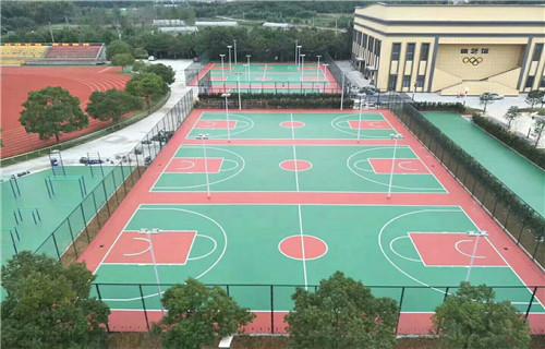 东营塑胶篮球场塑胶球场地面专业厂家承接