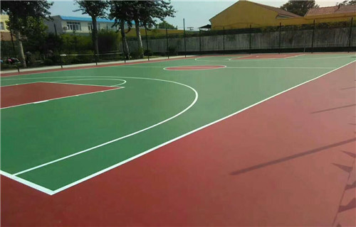 黑龙江硅pu材料学校专用篮球场地面