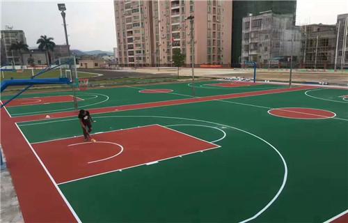 马鞍山水性篮球场面层材料球场面层铺设价格