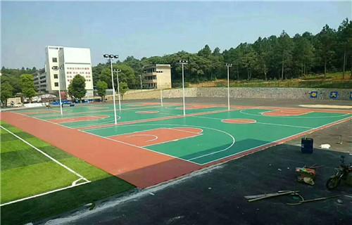 东营水性篮球场面层材料球场面层铺设价格