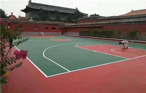 安庆球场施工塑胶硅pu材料硅pu施工价格