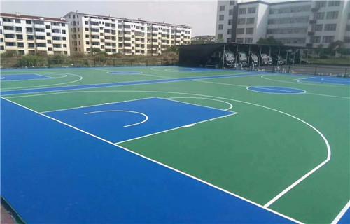 邢台硅pu材料学校专用篮球场地面