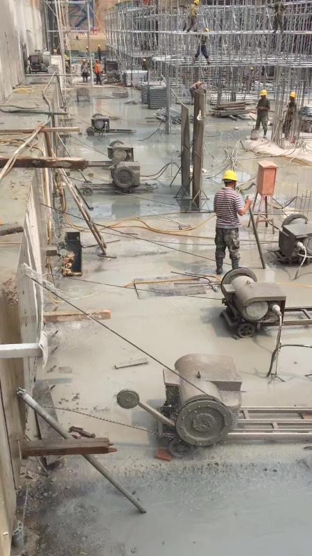 天水钢筋混凝土绳锯切割混凝土切割绳锯切割无声混凝土视频