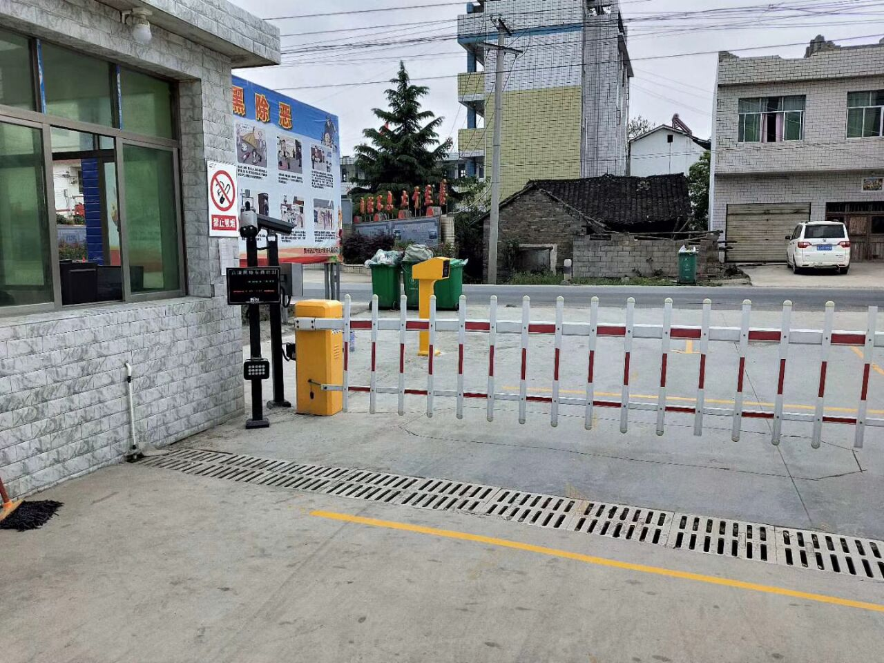 锦州市电动道闸捷斯道闸的安装方法