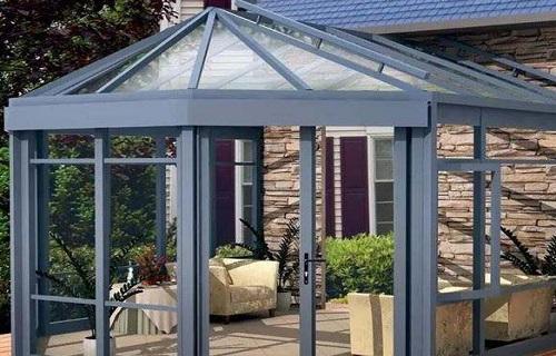 衢州铝合金框架玻璃幕墙露台搭建厨房间移门