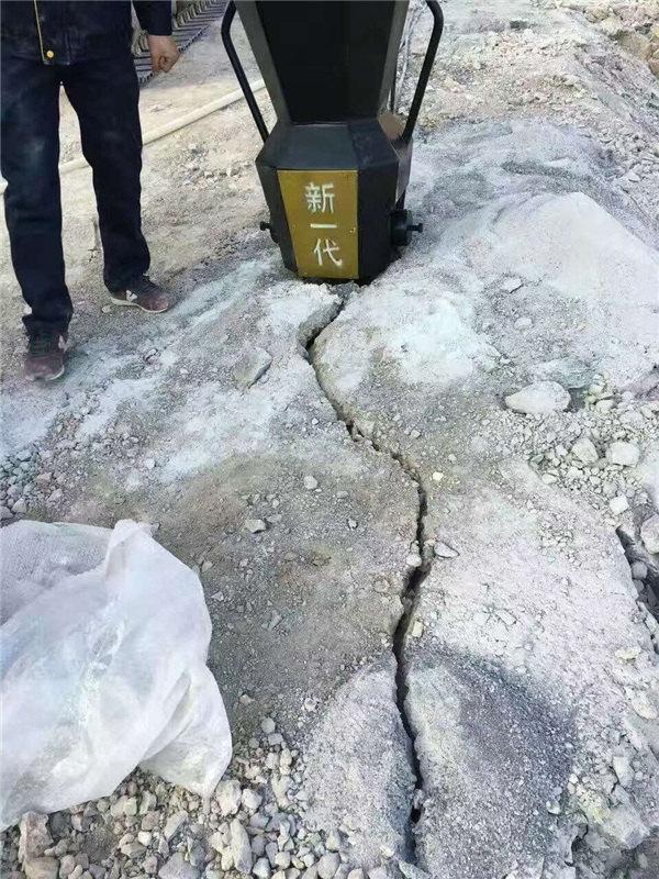 安徽安庆矿山采石成本低产量高劈石器劈裂机生产厂家