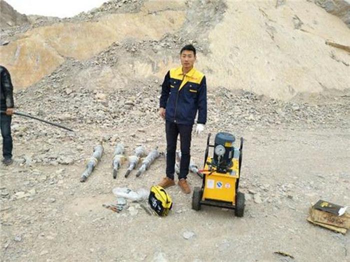 安徽省池州市露天采石场不用放炮液压破石设备岩石拆除用劈裂机